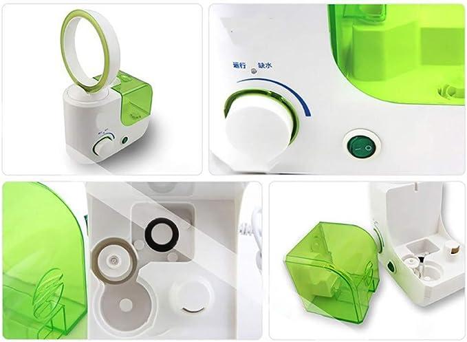 CAOQAO - Ventilador sin Cuchilla de refrigeración de Aire de humidificador, multifunción, portátil, USB, Ventilador, Ventilador sin Hoja, para casa, Oficina, campamentos, Azul, Rosa, Verde: Amazon.es: Hogar