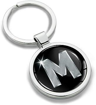 Biomar Labs Schlüsselanhänger Buchstabe Metall Keyring Buchstaben Initialen Alphabet Autoschlüssel Geschenk Metall Schlüsselanhänger Schlüsselbund Edelstahl Silber M Kk 13 Koffer Rucksäcke Taschen