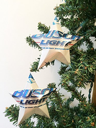 Busch Light Beer Can Stars, Recycled Aluminum Beer Can Stars, Upcycled Can, Christmas (Tiny Beer Cans)