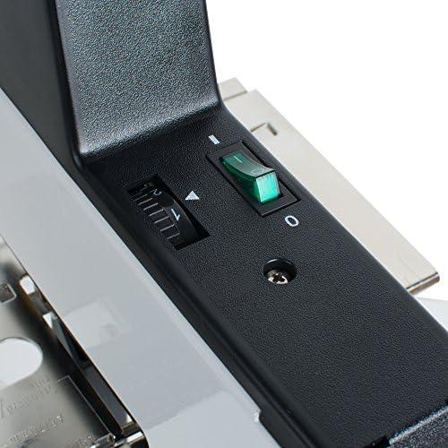 Funwill da 220/V macchina cucitrice a pedale con piatto elettrico e sella resistente unisce da 2 a 50 fogli