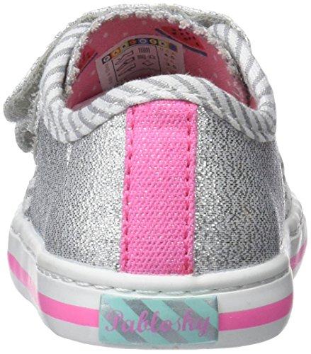 Pablosky 947550, Zapatillas Para Niñas Plateado (Plateado 947550)