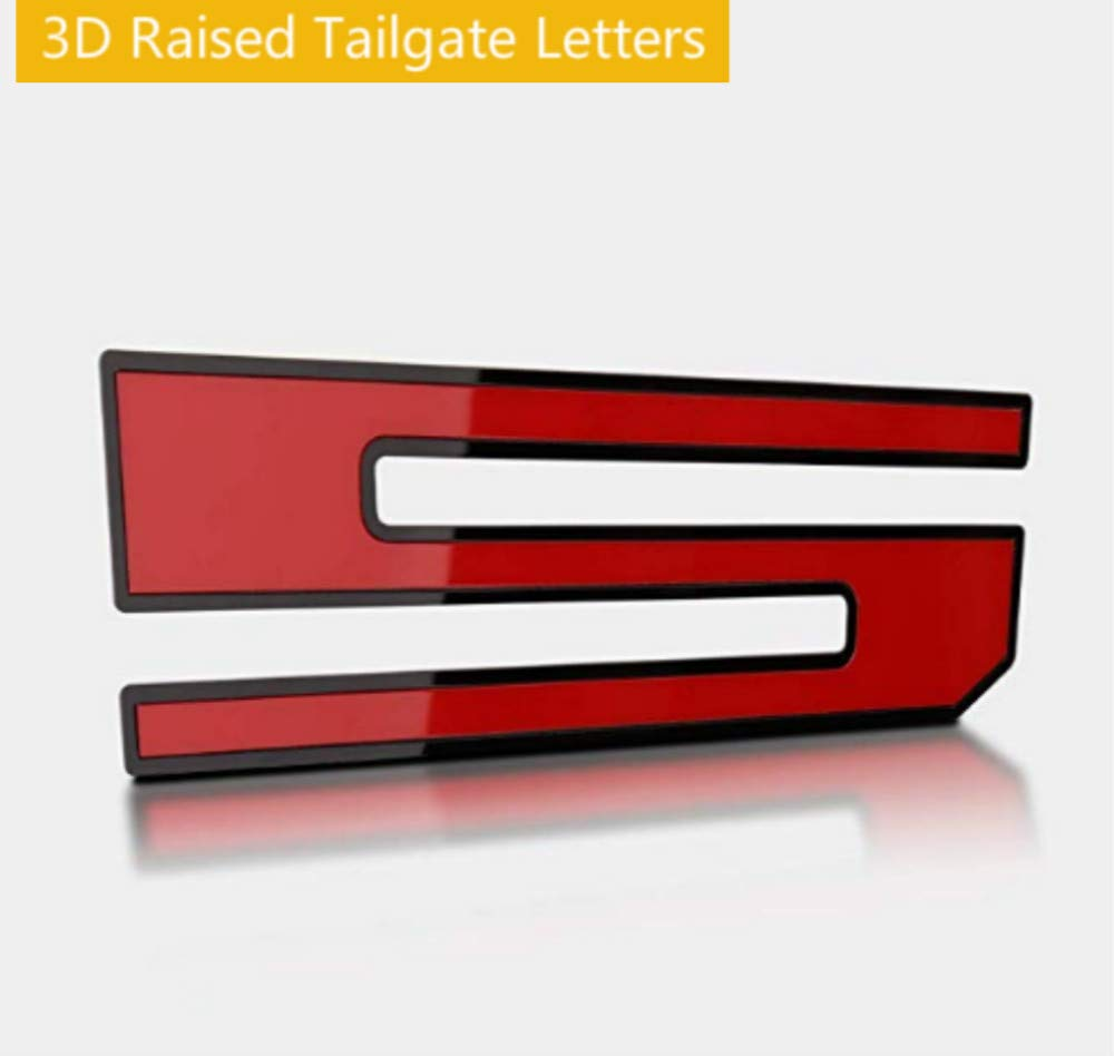 ARITA Tailgate Insert Letters for Ford F150 2018-2019 3M Adhesive /& 3D Raised Metal Tailgate Decal Letters Gloss Red with Black Border