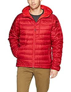 Outdoor Research Men's Transcendent Down Hoody, Agate/Hot Sauce, S