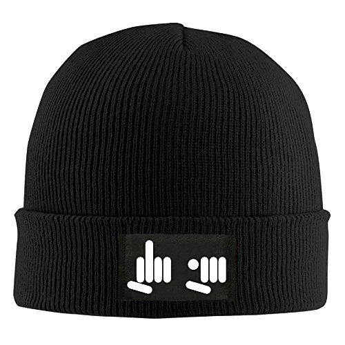 Cool manos a Beanie Fuck You divertido dedo sombreros Skully Negro Diseño qwrqgAIxp