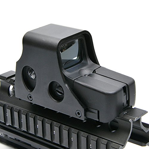 Mini Holographic Reflex Sight Red Green Dot Rifle Scope Tactical Light Adjustable Brightness Gun Sights Shooting Spotting 551 Model