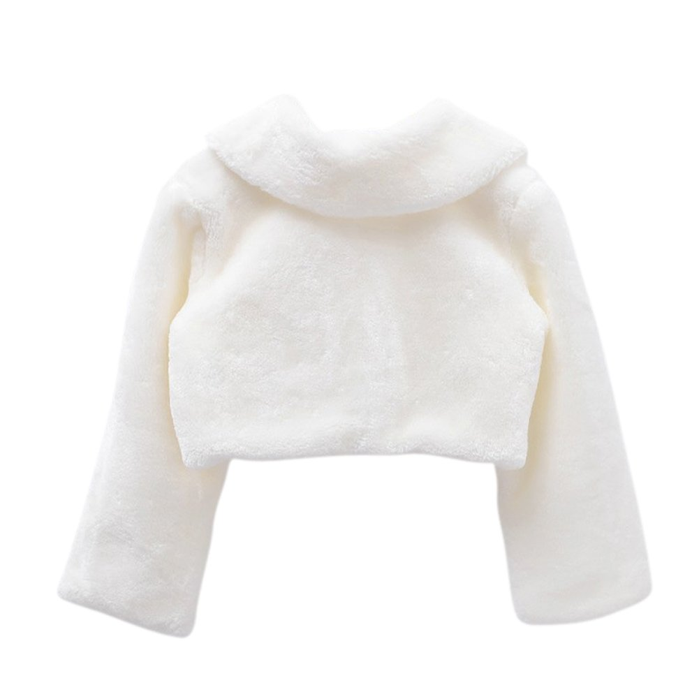 Genda 2Archer Princess Flower Girls Faux Fur Bolero Shrug Party Wedding Cape