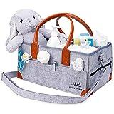HadleyReese Baby Diaper Caddy Organizer (15 x 10 x 7 Inch) - Large Portable Nursery Storage Bag for Travel, Car - Diaper Bag Organizer for Diapers, Wipes, Baby Toys, Lotion