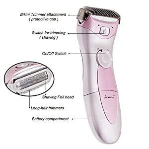 OFTEN Women Lady's Electric Rechargeable Hair Razor Shaver Epilator Waterproof Multifunction Bikini Line Legs Armpit Body Trimmer Remover