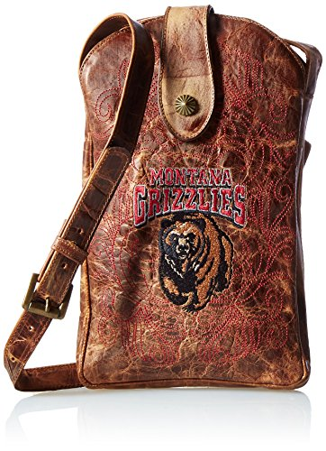NCAA Montana Grizzlies Women's Cross Body Purse, Brass, One Size by Gameday Boots