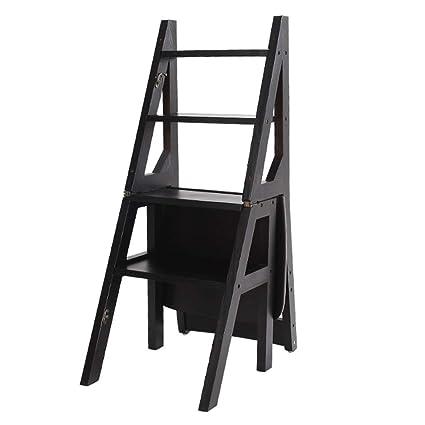 Groovy Amazon Com Gym Chair Folding Ladder Step Stool Solid Wood Creativecarmelina Interior Chair Design Creativecarmelinacom