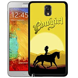 Southern Cowgirl In The Desert Hard Snap On Cell Phone Case Cover (Samsung Galaxy Note III 3 N9000)