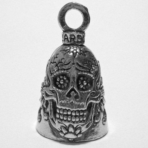 Guardian® Sugar Skull Flowers of Death Motorcycle Biker Luck Gremlin Riding Bell