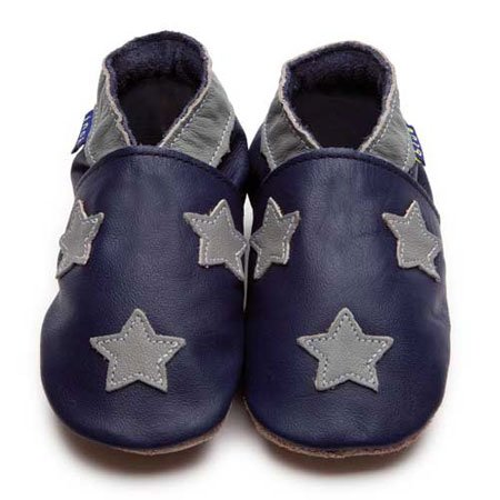 Inch Blue , Chaussures souples pour bébé (fille) Multicolore Marineblau/Grau Child Small
