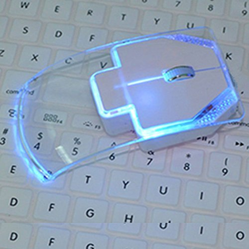 XENO-Creative Transparent Colorful Light Emitting Wireless Mouse For PC Laptop NW(white) (Mad T Party Band Costumes)