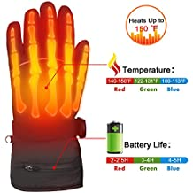 Winter Warm Rechargeable Electric Battery Heated Gloves with Li-ion Battery for Men and Women,Outdoor Indoor battery powered Hand Warmer for Hiking Skiing Cycling Snowboarding