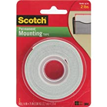 Scotch Mounting Tape, 12.7 mm x 1.9 m, White, 1 Roll