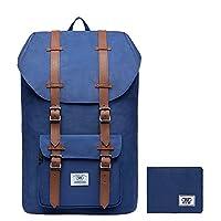 Laptop Outdoor Backpack College Schoolbag Bookbag Travel Hiking Rucksack fits 15-Inch Laptop by KAUKKO