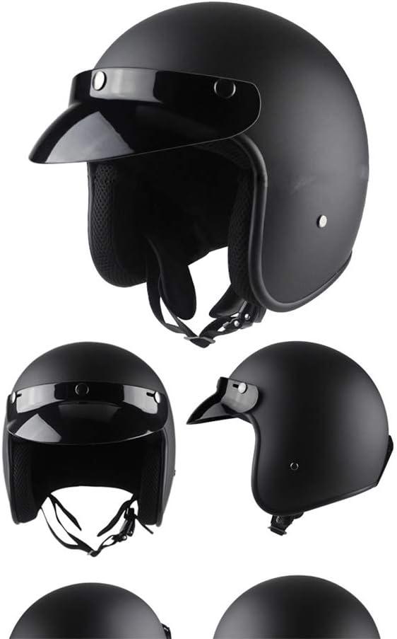 ZJRA Retro Helm Lokomotive ATV Motocross Kart Elektro Moped Helm Endurance Race f/ür Helm Erwachsene D.O.T,c,XL