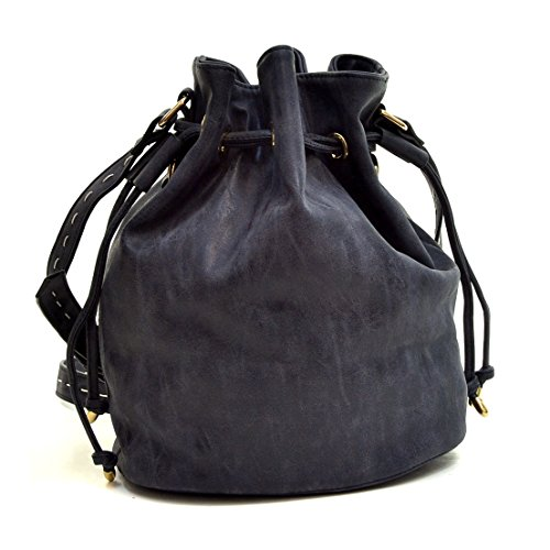 - Dasein Faux Leather Drawstring Bucket Bags, Crossbody Shoulder Top Handle Bags HOBO