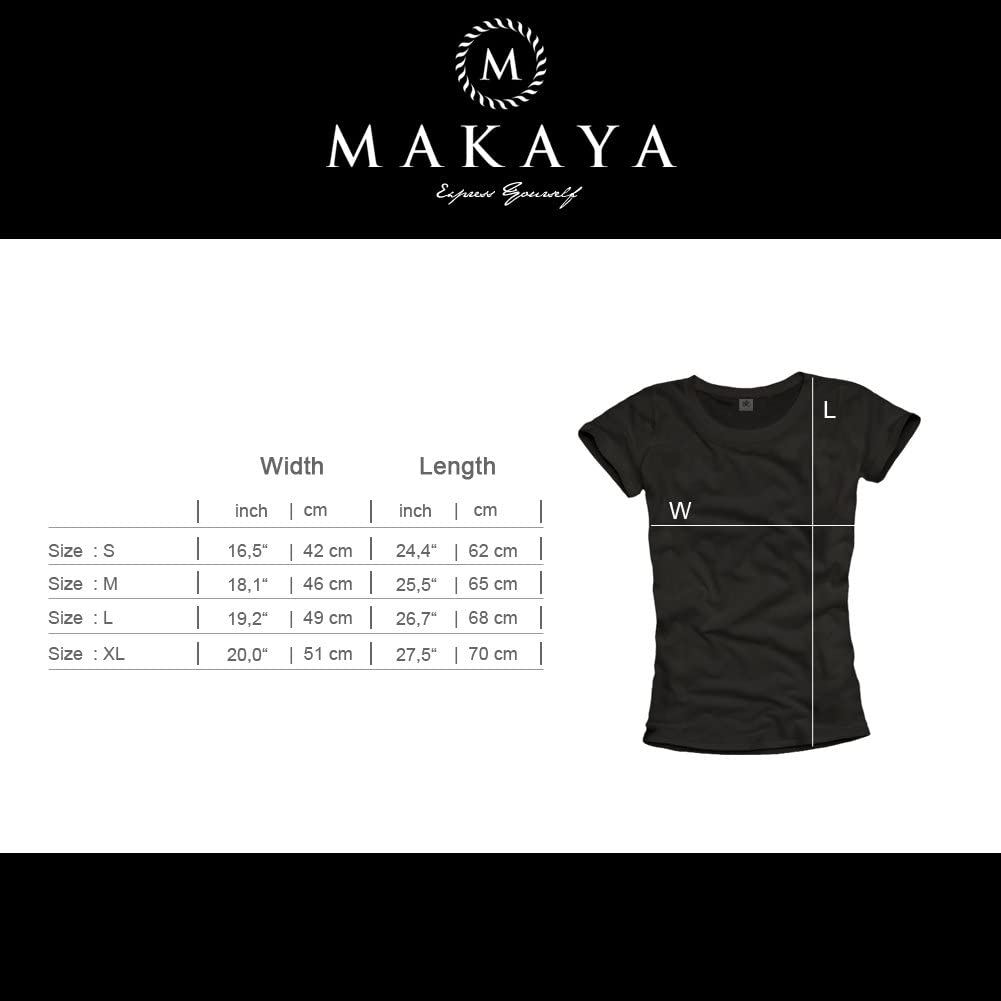 Makaya T-Shirt Moto Femme Tete de Mort Casque GO Fast Or GO Home Noir