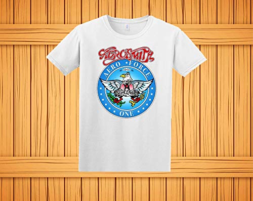 Wayne's World Garth Aerosmith T-shirt Halloween Costume White Shirt Toddler Youth Adult Lady Fitted ()