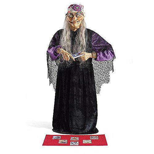 Life Size Animated Fortune Teller Figure Prop Haunted House Decoration Halloween Prop ()