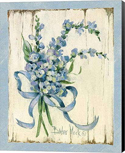 (Blue I by Barbara Mock Canvas Art Wall Picture, Museum Wrapped with Black Sides, 18 x 22 inches)