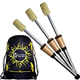 3x Play DELUXE Pro Fire Juggling Torches Set of 3 (70mm Wicks) + Flames N Games Travel Bag! Top of the Range Professional set of Fire Torches.