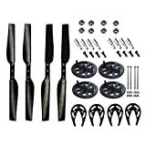 RC Quadcopter Carbon Fiber Propeller Gear Guard Protector Drive Bearings Main Shafts for Parrot Ar Drone 1 & 2.0 Quadcopter