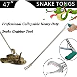 """Anrain 47"""" Extra Heavy Duty Snake Tongs Reptile Grabber Catcher Wide Jaw Handling Tool"""