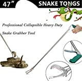 Anrain 47'' Extra Heavy Duty Snake Tongs Reptile Grabber Catcher Wide Jaw Handling Tool