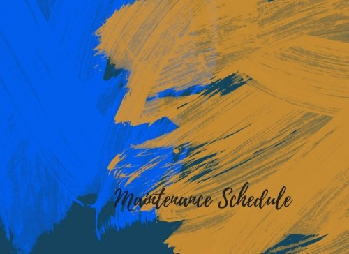 Maintenance Equipment - Maintenance Schedule: Notebook For Recording Maintenance & Repairs. Journal with 102 Pages. Log Date, Equipment Name & Specifications & Description Of Maintenance (Equipment Supplies)