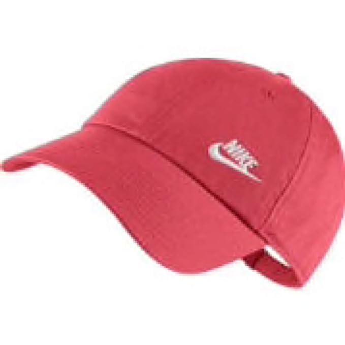 Gorra Nike - H86 Swoosh coral/blanco talla: Ajustable: Amazon.es: Ropa y accesorios