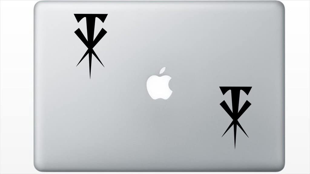 Wwe Undertaker Crossed T Logo HenryDecal5550009 Set Of Two (2x) , Decal , Sticker , Laptop , Ipad , Car , Truck