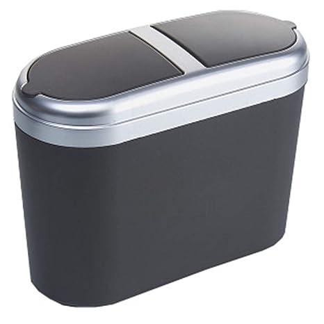 Premium Clamshell Lid Mini Car Lata de basura colgante ...