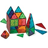 Magna-Tiles Magnetic Building Toys, Clear Colors Set, Multi Color (100 Pieces)