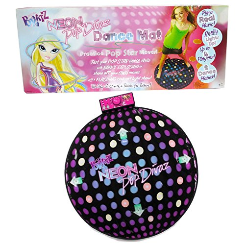 MGA Entertainment Bratz Neon Pop Divaz DANCE MAT with Lights and Music Plus 2 Dance Modes, 4 Anti Slip Pads and Instruction Manual
