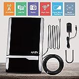 ANTV Amplified Radio Antenna, 50 Miles Indoor FM/AM Antenna for Stereo Radio Audio