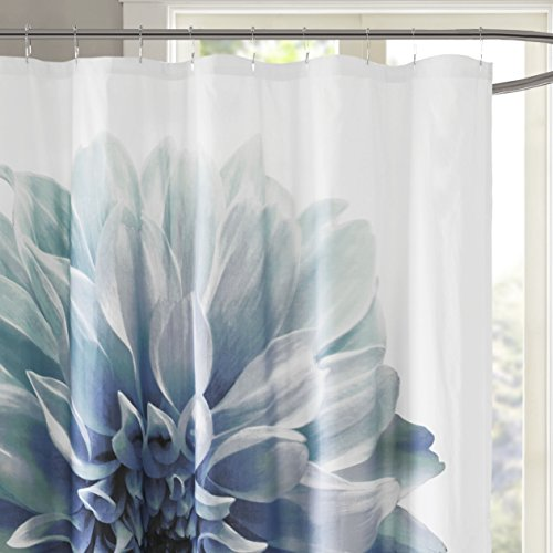 (Madison Park Norah Shower Curtain, Aqua)