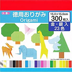 toyo origami paper 23 colors 300 sheets by toyo amazon