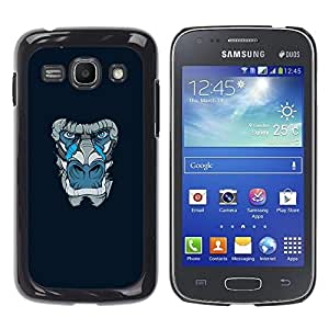 FU-Orionis Colorful Printed Hard Protective Back Case Cover Shell Skin for Samsung Galaxy Ace 3 - Blue Gorilla Monkey