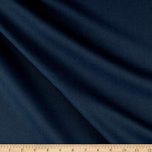 (Tuva Textiles Solid Wool Blend Twill Fabric, Light Blue, Fabric By The Yard)