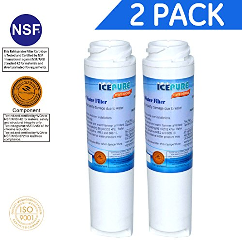 2X Compatible Water Filter by IcePure RFC3000A GE Kenmore GSWF 100749-C 100810/A 215C1152P002 238C2334P001 35917-MN-1 46-9914 AP3418061 GSWF3PK GSWFDS GTH22SHP GTS18KHP GTS22KHP PC36011 PC56994 PC5869