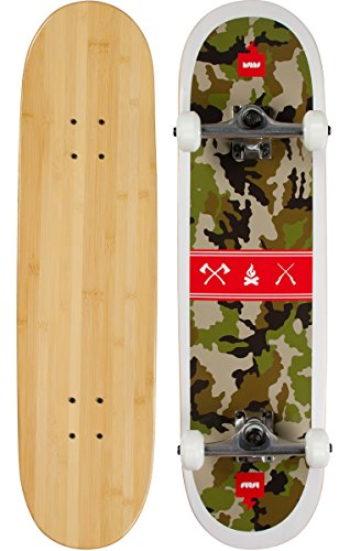 Bamboo Skateboards Camouflage Graphic Complete Skateboard, 8.25, Natural