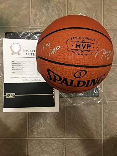 Kevin Durant Autographed Signed Nba Basketball With Inscription & Panini Coa - Certified Signature