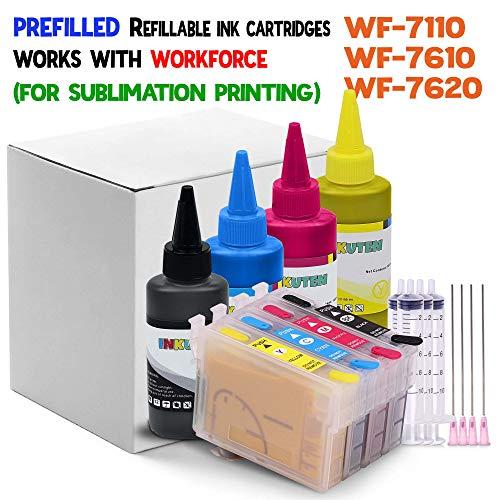 INKUTEN 252EXL Refillable Cartridges for WF-7710 WF-7720