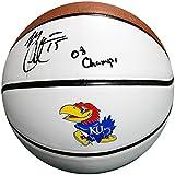 Mario Chalmers Autographed Kansas Jayhawks Basketball (JSA)