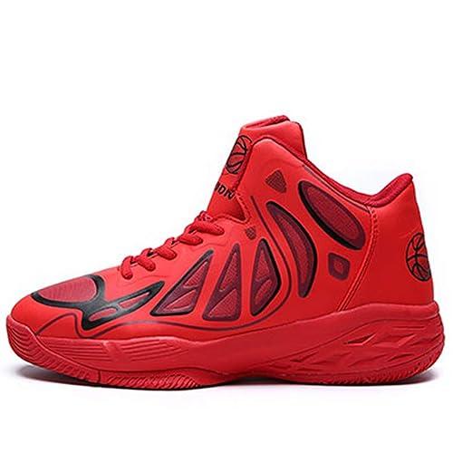 Hombres Baloncesto Zapatos Alto Top Transpirable Cuero cojín ...