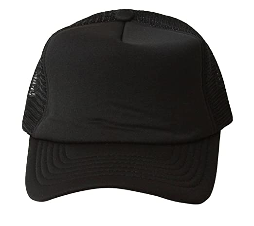 Vintage Trucker Hat Solid - Black at Amazon Men\u0027s Clothing store: Baseball Caps store