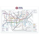 stika.co Standard London Underground Tube Station Map Poster - November 2018, A1 841x594mm